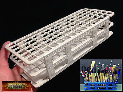 M01167 MOREZMORE 90-Hole Mini Tool Brush Holder Stand Organizer Caddy Rack T20