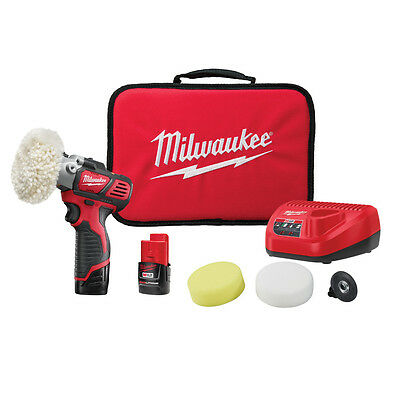 Milwaukee 2438-22 M12 12-Volt Variable Speed Polisher/Sander w/ Batteries
