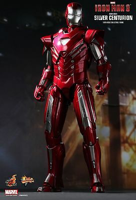 IRON MAN 3 - Mark 33 Silver Centurion 1/6th Scale Action Figure (Hot Toys) #NEW