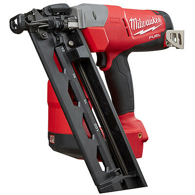 Milwaukee 2742-20 18-Volt 16-Gauge FUEL Angled FInish Nailer - Bare Tool