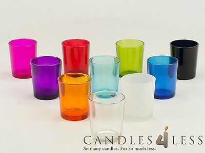 72 Colored Glass Votive Holders (Choice of 9 Colors)