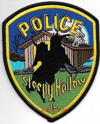 "Sleepy Hollow, IL   shoulder police patch (4"" x 5"" size) (fire)"