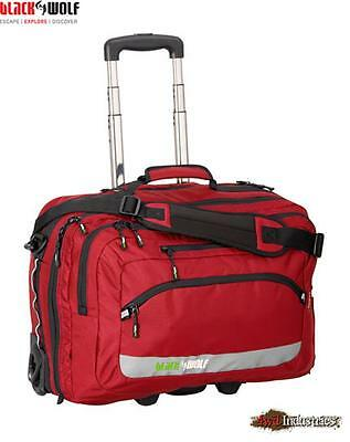 Black Wolf SCOOT 30L Business Travel Trolley Carry on Bag + Laptop Case - RED