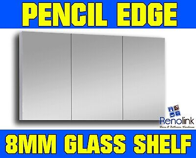 1200Mm X 720Mm Bathroom Vanity Mirror Cabinet White Gloss Pencil Edge Pemc-1200