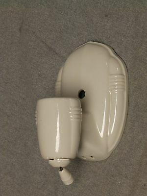Vtg Ceramic White Porcelain Sconce Wall Light Fixture Porcelier Old 820-16