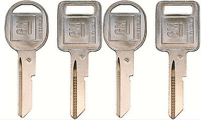 320589 B DOORS//TRUNK Key Blanks Uncut 320588 4 NEW GM Logo OEM A IGNITION