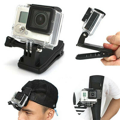 360° Rotary Backpack Hat Fast Release Clamp Clip Mount for GoPro Hero 4 3+/3/2