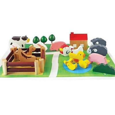 Farm In A Tin - Wooden Animals Set
