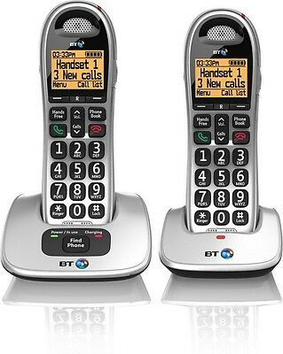 Bt 4000 Twin Big Button Digital Cordless Telephone With Speaker Phone