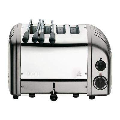 Dualit 2X2 Combi Vario 4 Slice Toaster Silver Stainless Steel 42171 Appliance