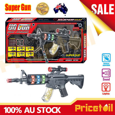 New Battery Operated Kids Toy Gun with Sound Light & Shock Fun Educational Toy