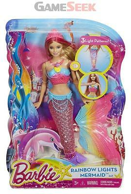 Barbie Rainbow Light Mermaid - Dolls And Playsets Barbie Brand New Free Delivery