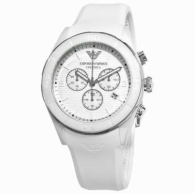 ** NEW **Emporio Armani® watch AR1435 Mens White Ceramica