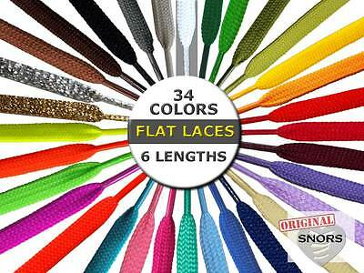 SHOELACES FLAT LACES - 33 Colors - 6 Lengths - 2 widths - Replacement shoelaces