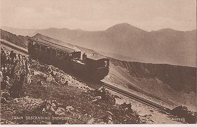 POSTCARD WALES  SNOWDON  Train ascending