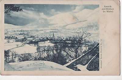 POSTCARD   KESWICK & SKIDDAW  (  In Winter )