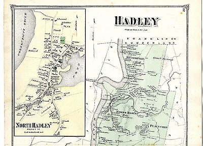 1873 Hadley map, from Atlas of Hampshire County, Massachusetts - original