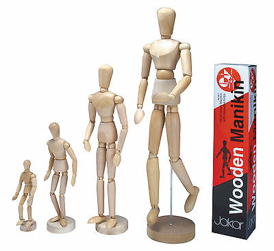 Artists Wooden Manikin Mannequin Moveable Adjustable Limbs Human cm Inch 4 Sizes