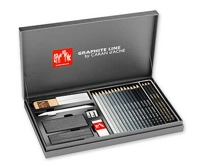 Caran D Ache Graphite Line Satin Pencil Sketch Set Gift Box
