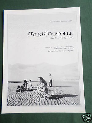 River City People - Magazine Clipping / Cutting- 1 Page Advert
