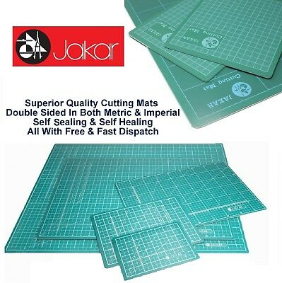 A2 Cutting Mat Self Healing Craft 2 Sided Metric Imperial Printed Grid Lines cm