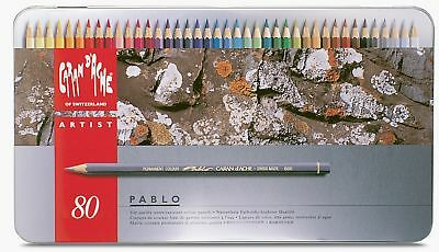 Caran Dache Pablo Colour Pencils Water Resistant Sketching Metal Tin Set Of 80