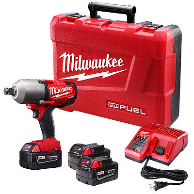 """Milwaukee 2764-22 M18 FUEL 18V 3/4"""" High-Torque Impact Wrench w/ Batteries"""