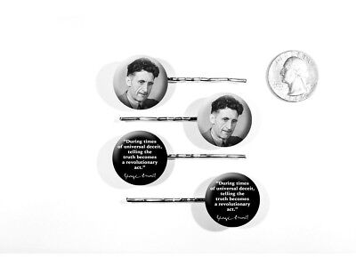 George Orwell Author Quote Animal Farm 1984 Zipper Pulls W Buttons