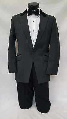 38 R Mens Gray Tuxedo Cutaway Frock Vintage Charcoal Grey Victorian Costume Tux