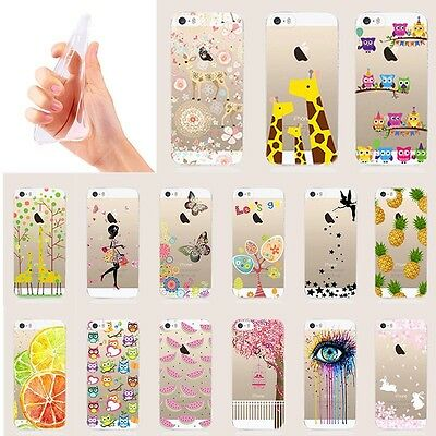 Ultra Slim Rubber Soft TPU Silicone Back Case Cover for Apple iPhone 5 6 6s Plus