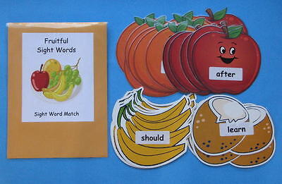 Teacher Made Literacy Center Educational Learning Resource Game Sight Word Match