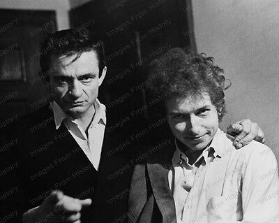 8x10 Print Johnny Cash Bob Dylan 1965 #JC08