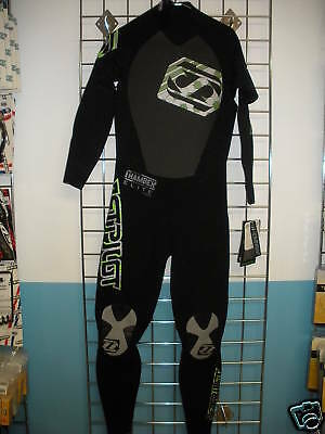 Jet Pilot WETSUIT Men's Black/Green Chamber Elite Fullsuit 3/2mm Medium NEW!