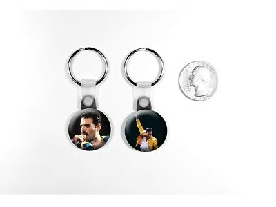Freddie Mercury Queen Lead Singer Classic Rock Set of 2 Key Chains