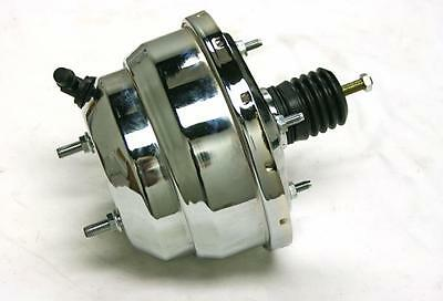 "7/"" Chrome Dual Brake Booster Universal Double Diaphragm Hot Rat Rod Chevy Muscle"