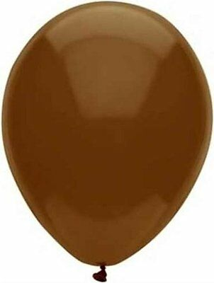 """12 - 96 pc 12"""" Cocoa Brown Latex Balloons Party Decoration Birthday Wedding"""
