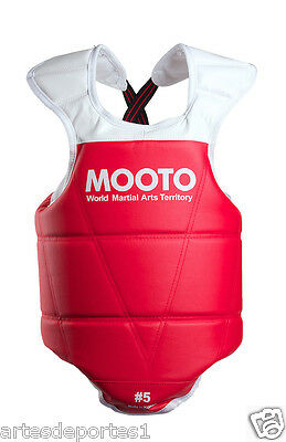 Mooto TaeKwonDo Red Chest Guard Gear WTF KTA Approved Protector Tournament Size4