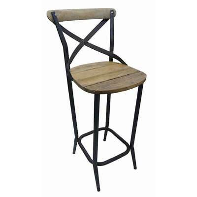 Vintage Look Dining Chair Rustic Cross Back French Provincial Cafe Stool