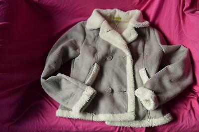 girls polyester fur lined jacket size 10