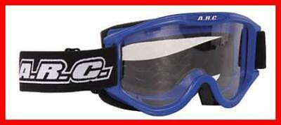 New Arc Motocross Goggles Blue Adult Size