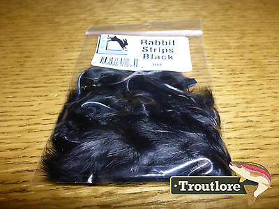 Black Rabbit Zonker Strips Hareline Dubbin New Fly Tying Materials