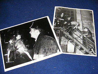 Vintage Photograph Fire Brigade Rescue X 2 Germany Offenburg 1972 Fighter
