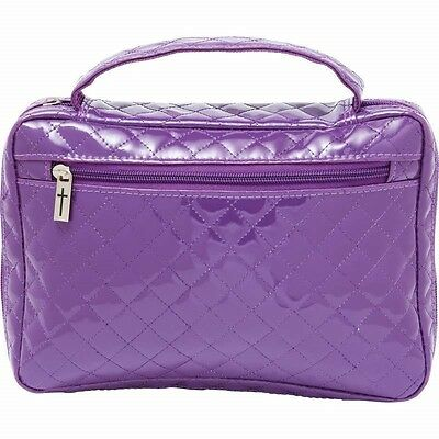 Faux Patent Leather PURPLE BIBLE COVER Protective Ladies Holy Book Carry Case