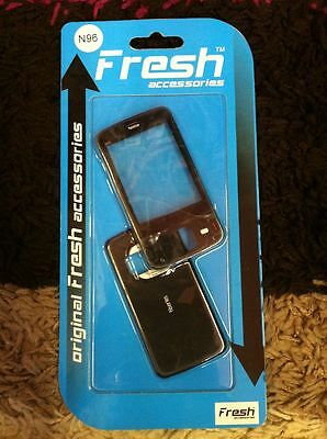 Nokia N96 - Black Front and Back Cover / Fascia , NEW , bargain
