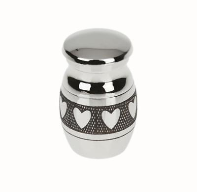 Heart Pattern Keepsake Cremation Ashes Urn Funeral Container Jar Mini