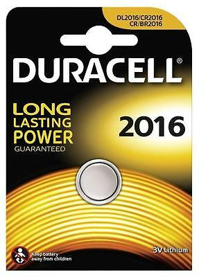 2x Duracell 2016 3V Lithium Coin Cell Batteries CR2016/DL2016 Battery - New