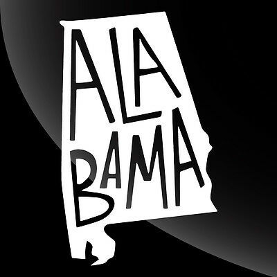 Alabama AL State Pride Decal Sticker - TONS OF OPTIONS