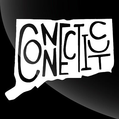 Connecticut CT State Pride Decal Sticker - TONS OF OPTIONS
