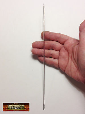 """M00635 MOREZMORE 10"""" Sewing Needle Extra Long Doll Bear Upholstery Leather T20"""
