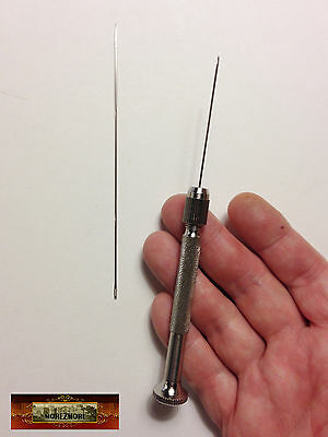 M01064 MOREZMORE 2 Sharp Needle with Pin Vise Chuck Handle Clay Tool A60